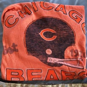 Chicago bears orange tee by junk food size small